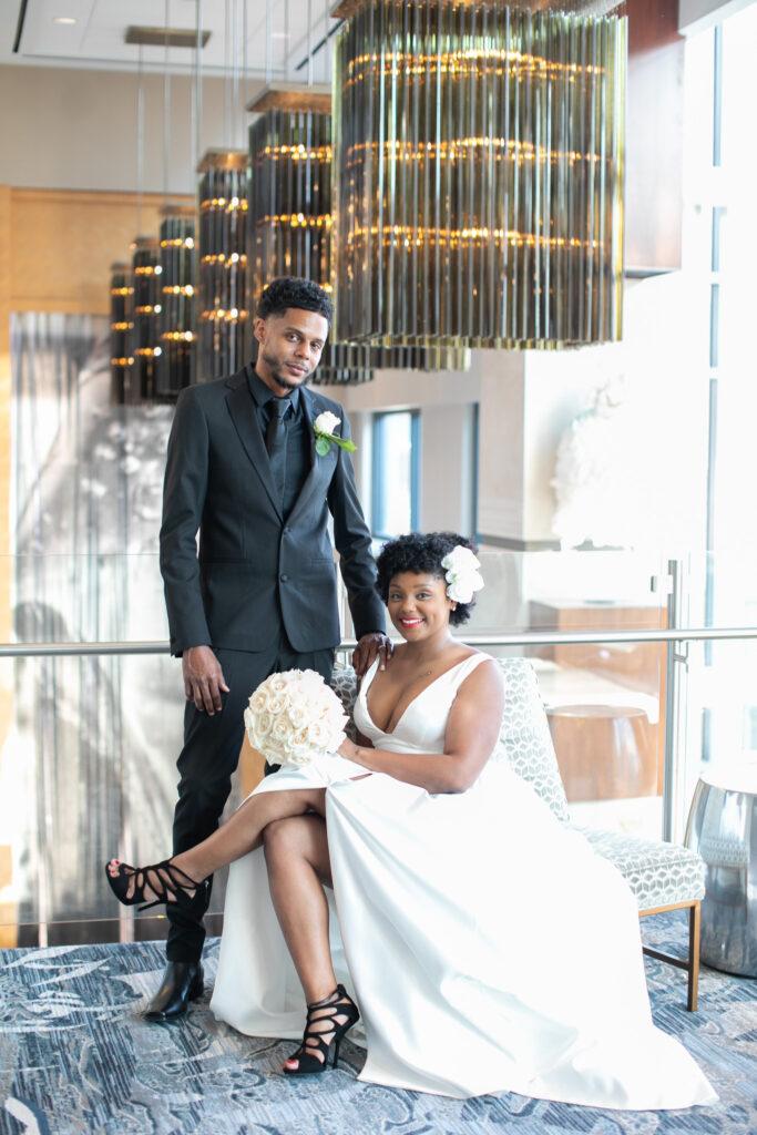 bride and groom at Norfolk main