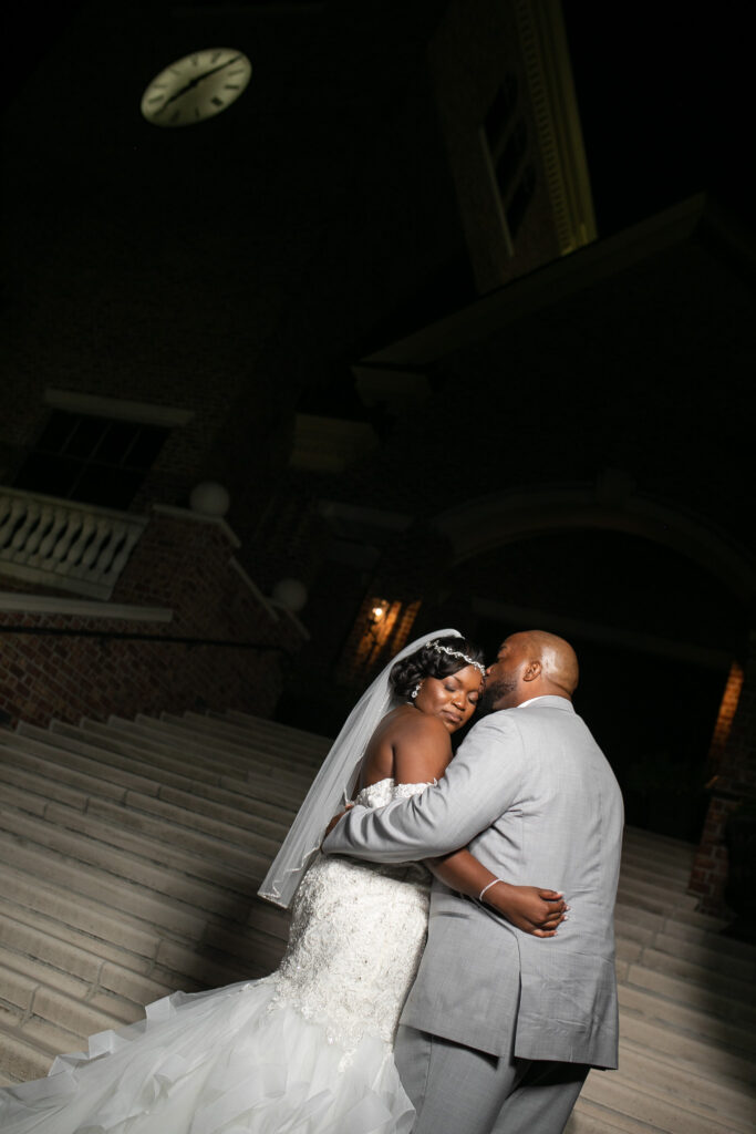 bride and groom photos at Smithfield center